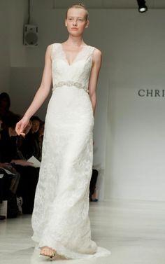sheer straps wedding dress
