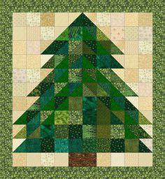 Christmas Tree Rag Quilt Free Tutorial