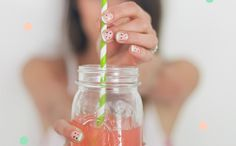 Gear up for spring with watermelon nails.