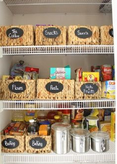 These kitchen organization tips will help bringing your disorganized pantry back in order and making the kitchen an effective home command center. #kitchen #pantry #organization #shelves #cabinets #home