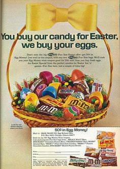 Vintage Easter candy ads | Easter Candy 1972
