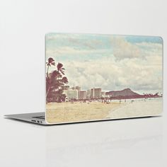 Retro Hawaii Diamond Head Laptop & iPad Skin by hellohialoha - $30.00