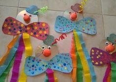 30 idéias para criar com crianças no carnaval - fasching basteln - Clown Crafts, Circus Crafts, Carnival Crafts, Carnival Decorations, Preschool Circus, Preschool Crafts, Diy For Kids, Crafts For Kids, Children Crafts