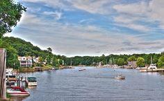 Kalamazoo River-Douglas, Saugatuck Michigan. Sherwood Forest Bed and Breakfast Postcard Collection