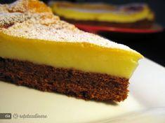 * Compozitia de cacao: Se bat ouale cu zaharul pana cand se topeste zaharul si compozitia se albeste. Se adauga untul moale (nu topit), si apoi, treptat, se adauga faina amestecata cu praful de copt.   Dupa ce faina a ... Vegan Cheesecake, Tasty, Yummy Food, Something Sweet, Ricotta, Caramel, Diy And Crafts, Food And Drink, Sweets