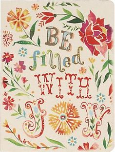 Be Filled With Joy Notebook
