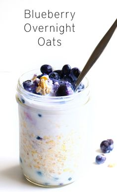 Creamy Blueberry Overnight Oats - A delicious, easy to make breakfast ...