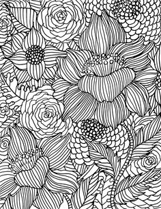 Free Floral Coloring Page Download