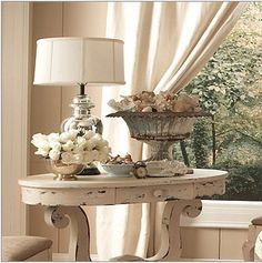 Be still my beating heart Country Chic Decor, Shabby Chic Decor, Living Room End Tables, Living Room Decor, Furniture Makeover, Furniture Decor, Coffee Table Vignettes, Coffee Table Inspiration, Vignette Design