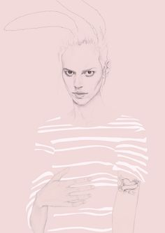 pink perfection in drawing.