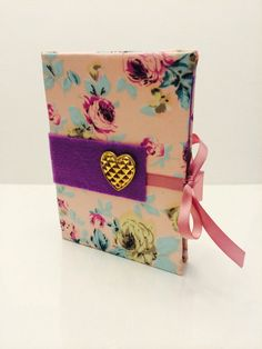 Light Pink and Purple Floral Earring Organizer/Book for Travel or Storage 5x7x1 on Etsy, $15.00