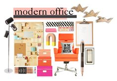 """""""Modern Office"""" by livingartsy ❤ liked on Polyvore featuring interior, interiors, interior design, home, home decor, interior decorating, Areaware, Seletti, Montblanc and Kate Spade"""