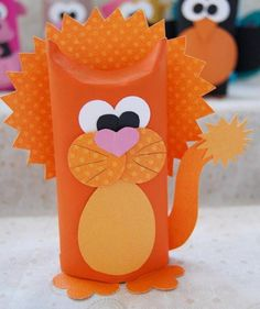 Learn how to make adorable toilet tube animals in this fun craft using recycled cardboard tubes. Toilet Tube, Toilet Paper Roll Art, Rolled Paper Art, Toilet Paper Roll Crafts, Kids Crafts, Easy Crafts, Craft Projects, Craft Ideas, Diy Ideas