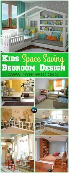 Maximize existing space of kids bedroom with these Space Saving Kids Bedroom #Furniture #Design Layout via @diyhowto #spacesavingfurniture