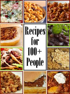 meals to feed to a large crowd in 2018 family reunion pinterest