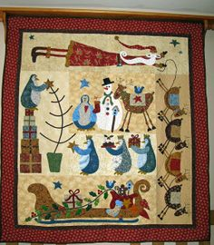 Christmas quilt by Janet Beyea