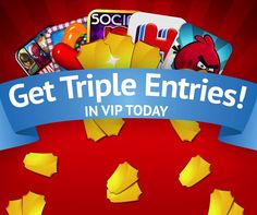GET TRIPLE ENTRIES when you play VIP TODAY. Earn more for the Kindle Fire!  Play NOW! https://www.livetowin.com/promo/3xvip/