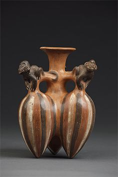 vessel in the form of fruit & monkeys / Inca culture Peru