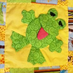 Frog baby quilt by Terrilynne