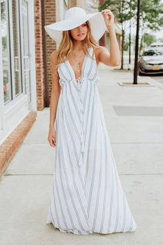 Stripe Issues Maxi Dress Swoon Boutique, Fashion Boutique, Striped Maxi Dresses, New Wardrobe, Spring Dresses, Summer Of Love, Affordable Fashion, Warm Weather, Fashion Forward