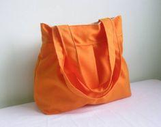 New Orange Shoulder BagDouble Straps by marbled on Etsy, $30.00