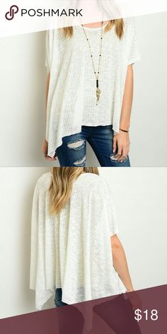 🆕 Textured Top Super cute top that has a flowy comfortable fit perfect for summer new with tags attached ☀️ Paper Crane Tops Blouses