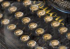 Typewriter Print, Vintage Typewriter Keys Photograph, Bijou Antique Typewriter, Vintage Home Decor,  Fine Art Print A4 (210mm x 297mm) by BambersImages on Etsy https://www.etsy.com/listing/220204757/typewriter-print-vintage-typewriter-keys