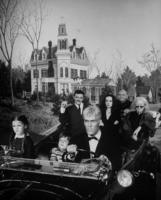 The Addams Family take a drive, 1965.