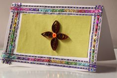 Beautiful Indian Pattern Paper Quilled Card by Quillicious.