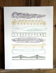 1canoe2 Handmade Letterpress Prints