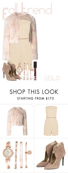 """Fall Trend // Rose Gold"" by copycat365 on Polyvore featuring RED Valentino, Tamara Mellon, Anne Klein, rosegold, fallstyle, falltrend and fall2015"