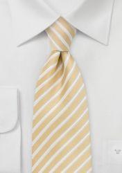 Krawatte Streifenmuster pastellgelb günstig kaufen
