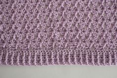 Lovely Lilac Shrug - I Like Crochet