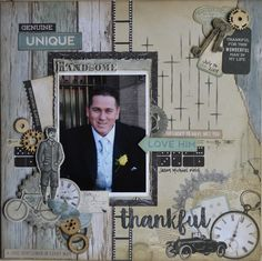 Hi Everyone, Feels like our weather has gone backwards.we've had a week of glorious weather after all the rain but the rain is back! Vintage Scrapbook, Wedding Scrapbook, My Scrapbook, Scrapbook Paper Crafts, Birthday Scrapbook, School Scrapbook Layouts, Scrapbook Designs, Scrapbooking Layouts, Heritage Scrapbooking