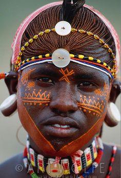 Africa | Samburu tribesman. Samburu National Preserve, Kenya | © Art Wolfe.