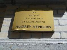 Audrey Hepburn's place if birth - Rue Keyenveld 48, Ixelles, will definitely need to visit here! :)