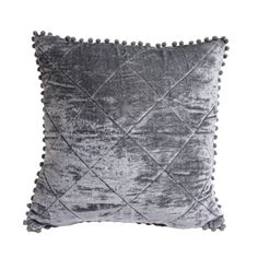 VELVET blue/grey cushion <3 www.ByMalou.no