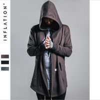Brang Clothing Men Hip Top Star Clothing Autumn Men Hoodies Black And Brown Male Sweatshirts Solid Color Clothes Men A2648