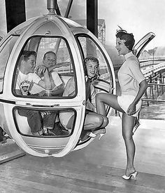 1960's Coney Island Skyride.  Went on this ride when I was a kid.   No, that's not me or my mom in the picture.