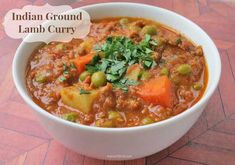 Indian Ground Lamb Curry by www.myheartbeets.com