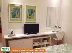 Apartamento decorado 2 quartos do Parque Attualle no bairro Jardim Santa Catarina - Araras - SP - MRV Engenharia - MRV Engenharia - Quarto Casal