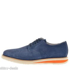 BePositive New Man Blue Suede Leather Derby Oxfords Shoes Size 44 it MADE ITALY