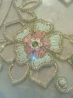 Zardosi Embroidery, Pearl Embroidery, Tambour Embroidery, Hand Work Embroidery, Couture Embroidery, Simple Embroidery, Bead Embroidery Jewelry, Silk Ribbon Embroidery, Bead Embroidery Tutorial