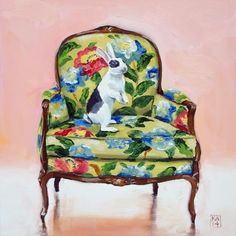 oh hoppy day, painting by artist Kimberly Applegate