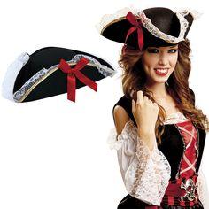Sombrero Corsaria Pirata #sombrerosdisfraz #accesoriosdisfraz #accesoriosphotocall