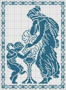 The Four Seasons - Winter | Chart for cross stitch or filet crochet.