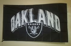 NFL Oakland Raiders Football Flag Banner 3X5 FT Man Cave Gift FREE SHIPPING!!! #OaklandRaiders