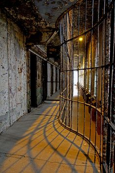 "Corridor in the Ohio State Reformatory at Mansfield by Ronny ""Gordon Bombay"" Salerno, via Flickr"