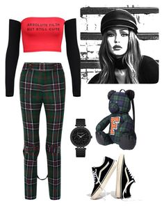 """let the chess win"" by bagon on Polyvore featuring moda, Gucci, Puma, Maybelline, Madewell e Caravelle by Bulova"