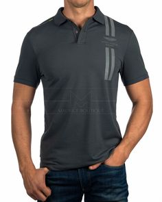 Polos Hackett ® Aston Martin Racing Dbl Str | ENVIO GRATIS Polo Rugby Shirt, Striped Polo Shirt, T Shirt Logo Design, Polo Outfit, Le Polo, Outfits Hombre, Sport Wear, Aston Martin, Printed Shirts